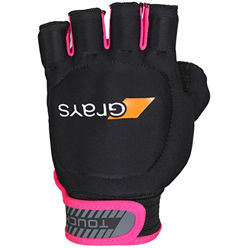 GRAYS Unisex's Touch Left Gloves, Black/Fluo Pink, X-Small from GRAYS