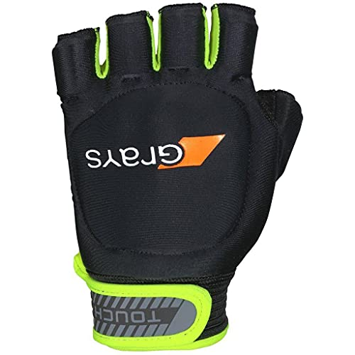 Grays Unisex Touch Right Gloves, Black/Fluo Yellow, Large from Grays