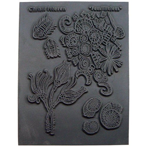 Great Create Rubber Christi Friesen Texture Stamp 4.25-inch x 5.5-inch, Fossillicious from Great Create