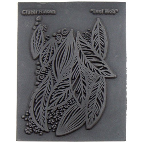 Great Create Rubber Christi Friesen Texture Stamp 4.25-inch x 5.5-inch, Leaf Mob from Great Create