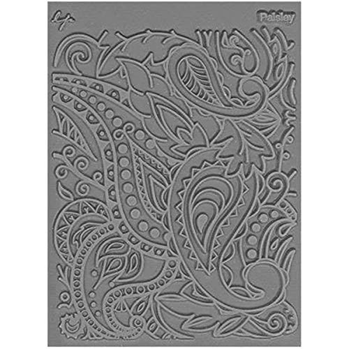 Great Create Rubber Lisa Pavelka Individual Texture Stamp 4.25-inch x 5.5-inch, Paisley from Great Create