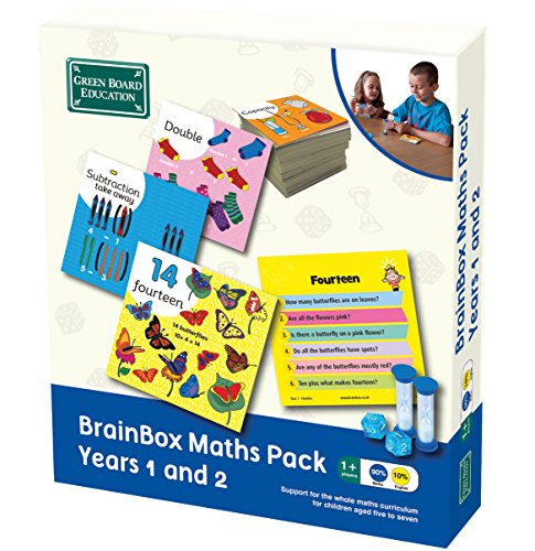 Brainbox Maths Pack Years 1 and 2 by Green Board Games from Green Board Education