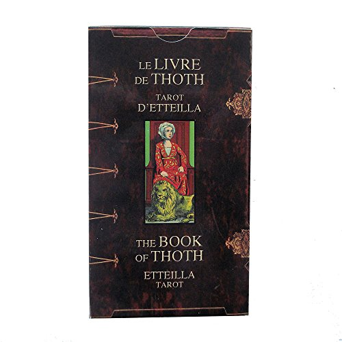 The Book of Thoth Tarot by Jean Francois Alliette (Etteilla), 78 Cards Deck with Multilingual Instructions from Green Cross Toad