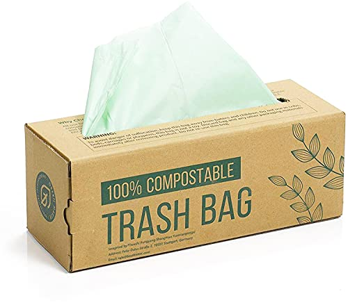 150 Bags Compost Bin Liners 6L 8L 10L Kitchen Food Waste Bags 100% Biodegradable Bags Made from Corn Starch with EN13432 Certification (6L) from Green Maker