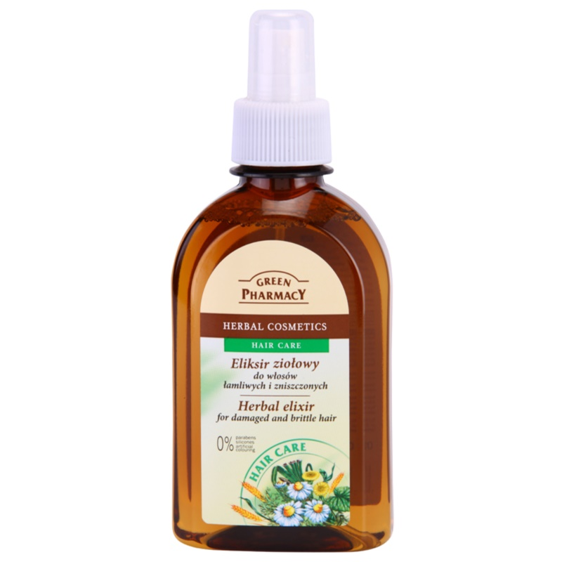 Green Pharmacy Hair Care Herbal Elixir for Damaged and Brittle Hair 250 ml from Green Pharmacy