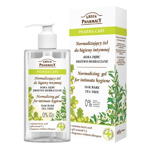 Green Pharmacy - Pharma Care - Normalising gel for intimate hygiene OAK BARK TEA TREE 300ml from Green Pharmacy