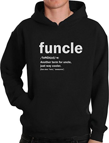 Funny Uncle Gift Shirts Funcle Definition for Best Awesome Uncles Hoodie Large Black from Green Turtle T-Shirts