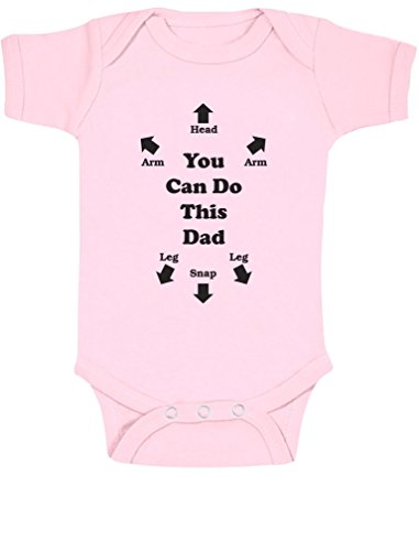 You Can Do This Dad - Funny Christmas Gift Idea for New Dad - Boy / Girl Baby Grow Vest Bodysuit Baby Onesie 6 - 12 months Pink from Green Turtle T-Shirts