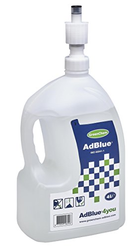 GreenChem 4L Adblue top-up bottle with Spill Proof Nozzle from Greenchem
