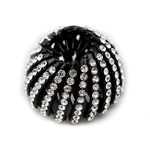 Bird Nest Rhinestone Expanding Tail Hair Bun Holder Grip Claw Hair Accessory from Greenlans