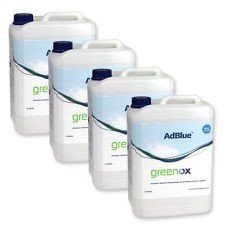 Bundle Of 4 20 Lt Drums Of Adblue (Including Filler Tubes) Truck And Van Fuel Additive Greenox 80 Litres In Total. from Greenox