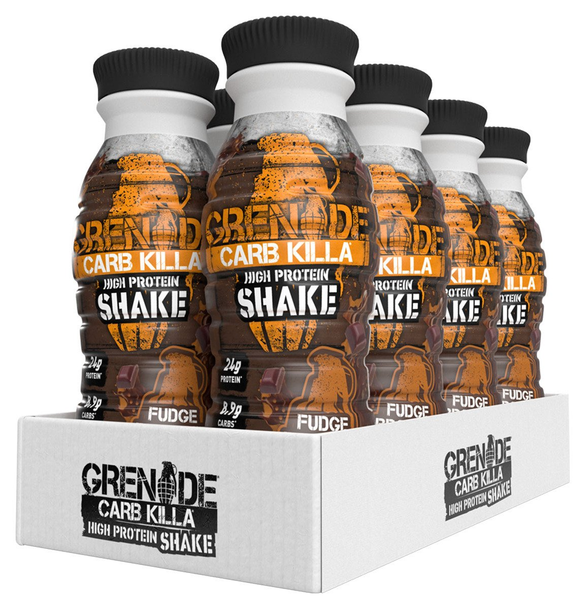 Grenade Carb Killa Fudge Brownie Protein Shake - 8 x 330ml from Grenade