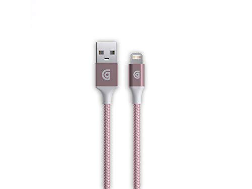 Griffin GC43433 Premium Braided USB to Lightning Cable for iPhone and iPad - Rose Gold from Griffin