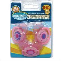 Griptight 3 Orthodontic Soothers 0-6+ months from Griptight