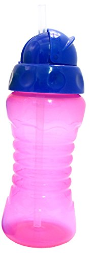 Griptight - Flexi Soft Silicone Straw Sipper Flip Top Bottle Cup (Pink/Purple) from Griptight