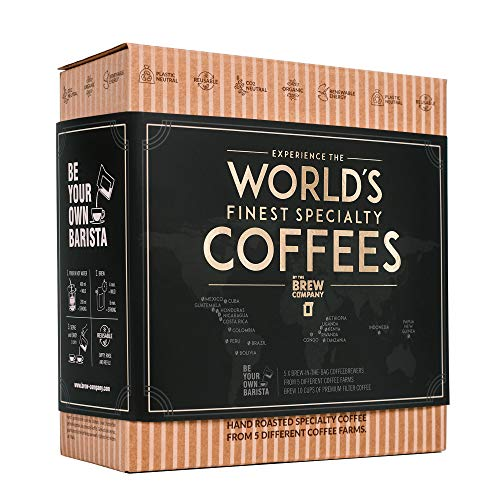 Coffeebrewer 5pcs Gift Box Assortment - the Travel Coffee Box from Grower's Cup