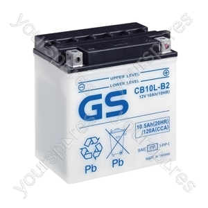 Motorcycle CB Series Battery 12V - 10Ah - 120CCA from Gs Batteries