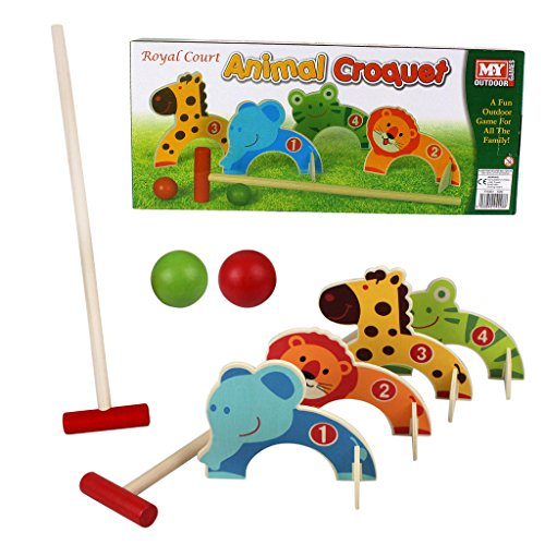 Kids Croquet Golf Toy Set Wooden Animal Garden Outdoor Childrens Play Lawn Games from Guaranteed4Less