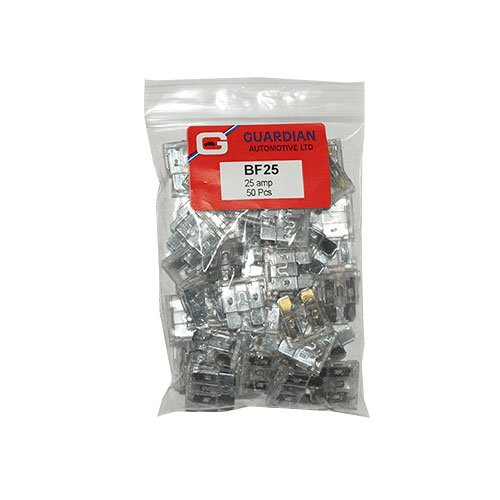 Standard Blade Fuses 25 Amp - 50 Pieces by Workshop Plus from Guardian