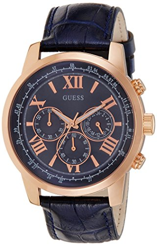 Guess Men's Chronograph Quartz Watch with Imitation Leather Bracelet - W0380G5 from Guess