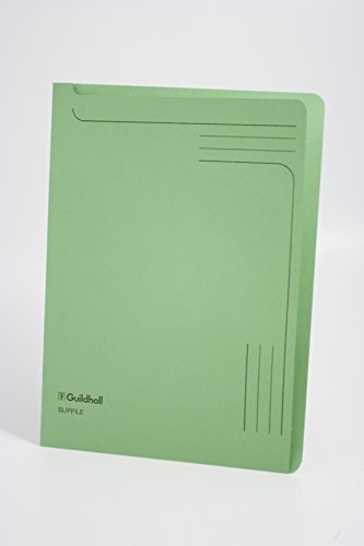 Exacompta Guildhall Slip File, 315 x 230 mm, 230 gsm Board - Green, Pack of 50 from Exacompta
