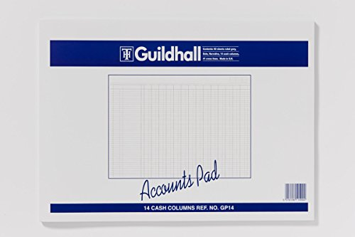Exacompta Guildhall Account Pad, 298 x 406 mm, 60 sheets, 41 Feint Lines, 14 Cash Columns from Exacompta