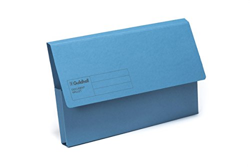 Exacompta Guildhall Document Wallets, 285 gsm, Foolscap - Blue, Pack of 50 from Exacompta