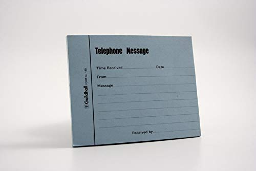 Exacompta Guildhall Telephone Message Pad - Blue, Pack 5 from Exacompta