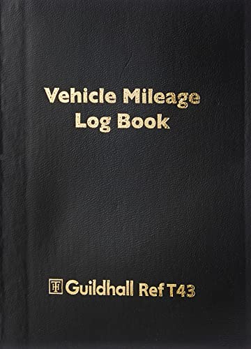 Exacompta Guildhall Vehicle Mileage Log Book, 149x104mm, 60 pages - Black Vinyl Cover from Exacompta