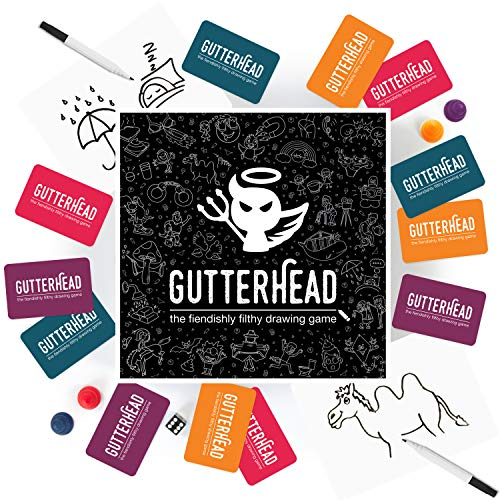 Gutterhead - The Fiendishly Filthy Drawing Game [Drinking & Party Game for Adults] from Gutter Games