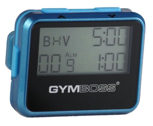 Gymboss Interval Timer and Stopwatch - TEAL / BLUE METALLIC GLOSS from Gymboss