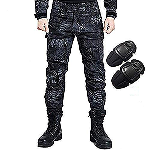 H World EU Military Army Tactical Airsoft Paintball Shooting Pants Combat Men Pants with Knee Pads TYP (XXL) from H World EU
