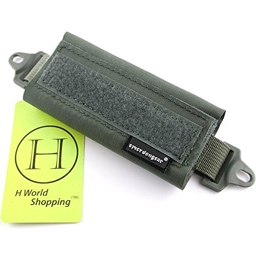 H World Shopping Emerson Tactical Helmet Balancing Weight Bag Counter Balance Battery Pouch for OPS FAST BJ PJ MH Tactical Helmet Accessory (Foliage Green) from H World Shopping