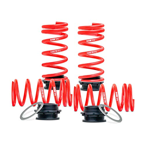 H&R 23000-2 Height Adjustable Spring System BMW 5 F10 Sedan 2/4WD & 6-Series F06 Gran Coupé 2WD 640i/640d 2010-FA30-45/RA25-40mm, Red from H&R