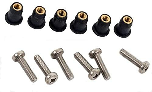 M5 Neoprene Well Nut M5 With 20mm Stainless Steel Pozi Screw (Pack 6) (E) from H2o Kayaks