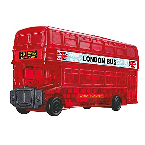 "HCM 59156 ""London Bus"" Crystal Puzzle (38-Piece, Multi-Colour) from HCM"