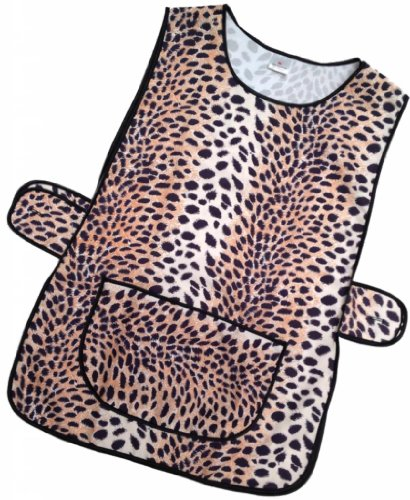 HDUK Top Quality Ladies Animal Print Home/Work Tabard Apron with Large Front Pocket and Side Button Tab Fastening / Available in UK Sizes 8-10 up to 28-30 (UK 28/30 (XXXOS)) from HDUK TM Tabards & Aprons