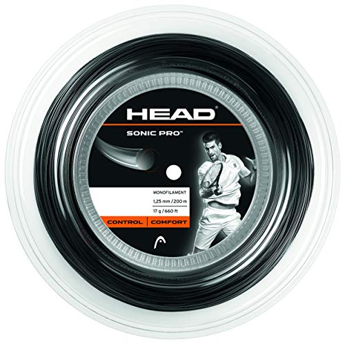HEAD Unisex's Sonic Pro Reel Racquet String-Multi-Colour/Black, Size 17 from HEAD