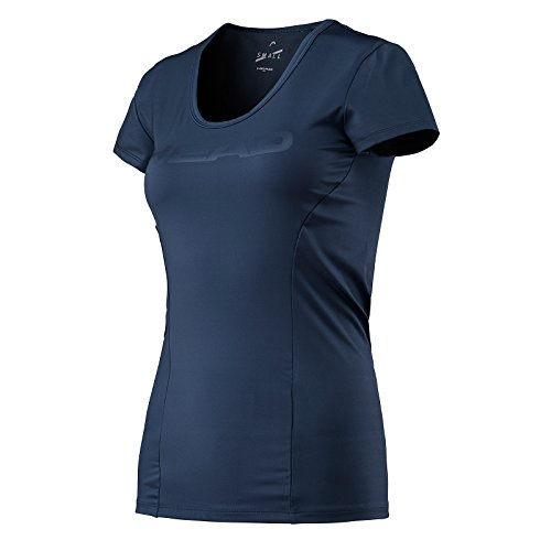 HEAD Women's Vision Corpo T-Shirt, Navy, X-Small from HEAD