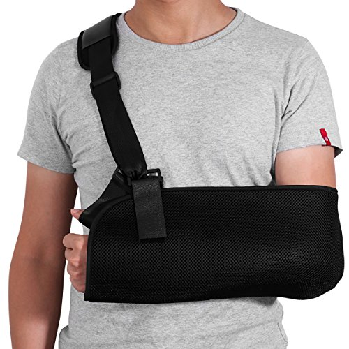 HEALIFTY Arm Sling - Shoulder Immobilizer for Broken Fractured Arm - Adjustable Arm, Shoulder Rotator Cuff Support Brace - for Tear,Dislocation,Sprains and Strains from Healifty