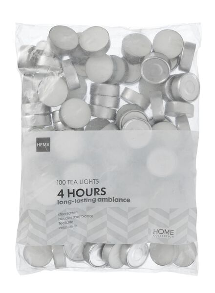 HEMA Tea Lights - Burns For 4 Hours - 100x from HEMA
