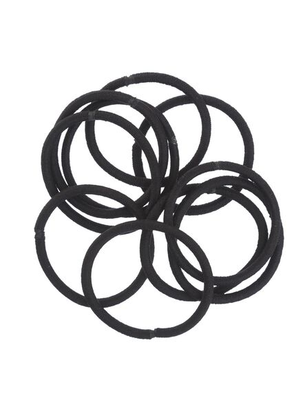 HEMA 10-pack Hair Elastics (black) from HEMA