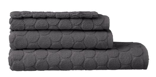HEMA Towels - Heavy Quality - Dotted Dark Grey (dark grey) from HEMA