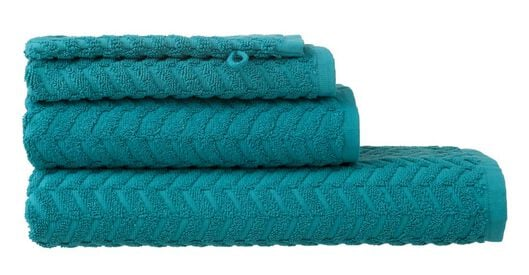 HEMA Towels - Heavy Quality - Zigzag Dark Green (dark green) from HEMA