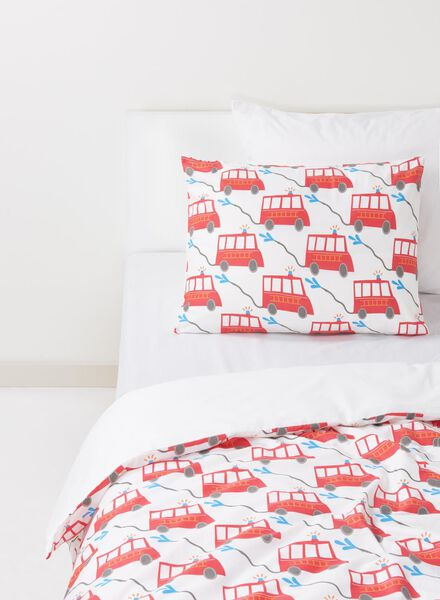 HEMA Toddler Duvet Cover - Cotton - 120 X 150 Cm - Fire Engine (multi) from HEMA