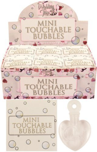 48x Mini Touchable Bubbles Hearts Party Bag Wedding Favours Table Decoration from HENBRANDT
