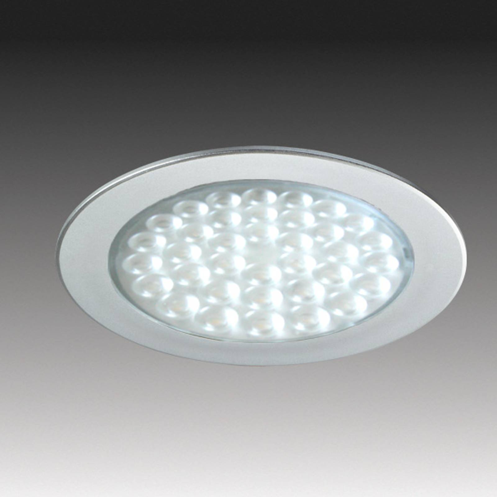 R 68 LED recessed light in stainless steel look from HERA