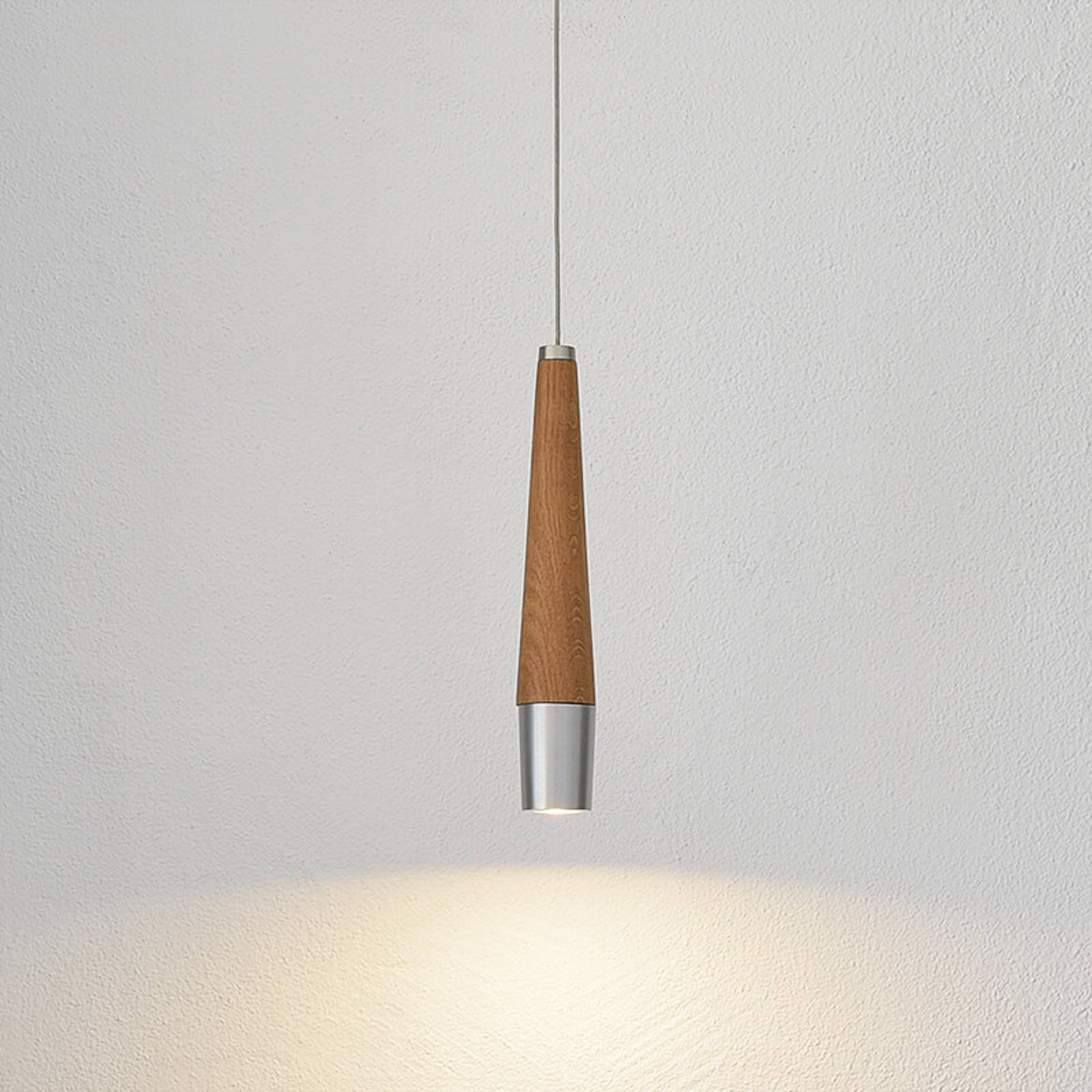 Conico - LED pendant light with solid wood element from HerzBlut