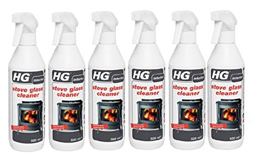 Case of 6 HG Stove Glass Woodburner Glass Cleaner Spray 500ml from HG