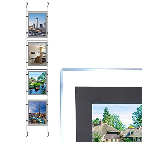 A4 Portrait Real Estate Window Hanging Led Sign Holder Display Light Box (4pcs Hanging in one Column) from HKSIGN